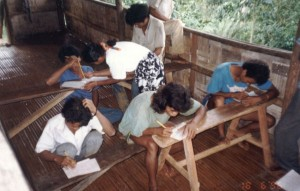 Adult literacy classes in the 1990s