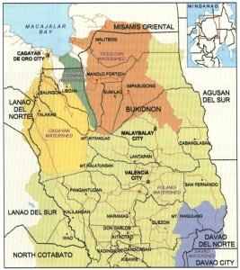 Watersheds of Bukidnon where people settled and formed communities