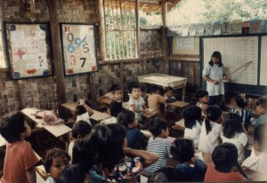 From the beginning of the education program in Bendum, classes were already taught in the mother tongue