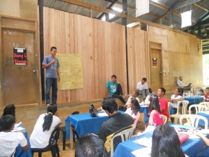 Participant sharing during the conference