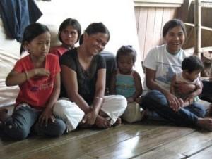 Pulangiyen families gathered together for the celebration of Kaamulan.