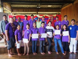 The participants with Datu Nestor and their facilitators.