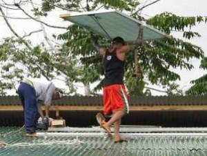 Solar panel installation in the Pangamo dalepaan
